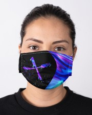 lunch lady neon mas Cloth Face Mask - 3 Pack aos-face-mask-lifestyle-01