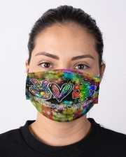 autism peace love mas Cloth Face Mask - 3 Pack aos-face-mask-lifestyle-01