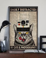 Cats photography easily distracted pt dvhh ngt 11x17 Poster lifestyle-poster-2