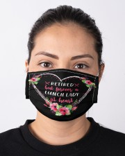 Retired lunch lady forever at heart mas Cloth Face Mask - 3 Pack aos-face-mask-lifestyle-01
