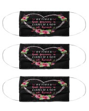Retired lunch lady forever at heart mas Cloth Face Mask - 3 Pack front