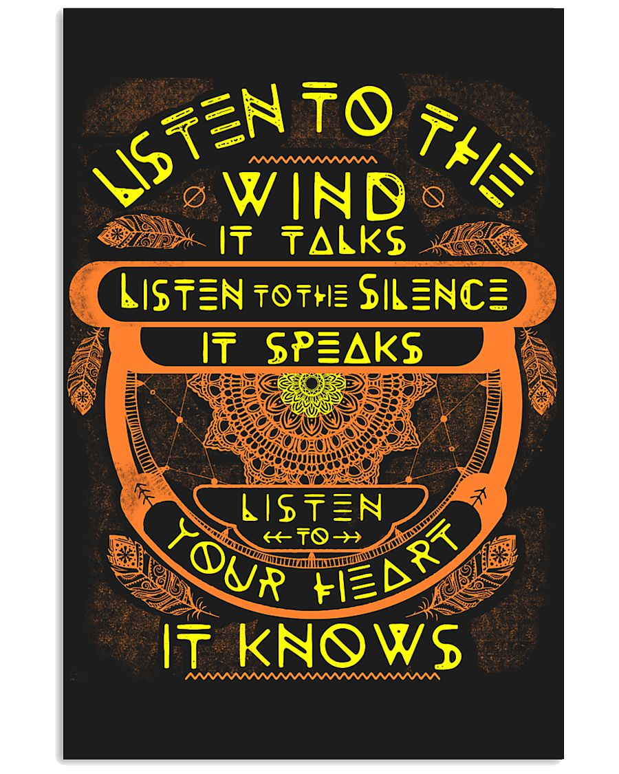 Native America Listen 11x17 Poster