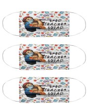 sped teacher squad mas Cloth Face Mask - 3 Pack front