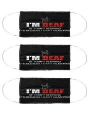 sign language I am deaf not respond mas Cloth Face Mask - 3 Pack front