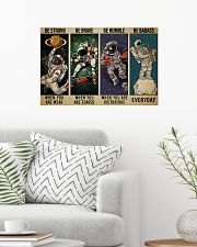 Astronaut be strong brave humble pt mttn-ngt 24x16 Poster poster-landscape-24x16-lifestyle-01