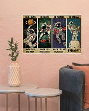 Astronaut be strong brave humble pt mttn-ngt 24x16 Poster poster-landscape-24x16-lifestyle-22