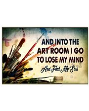 art room lose my mind poster 17x11 Poster front