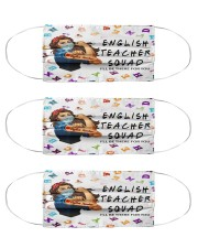 english teacher squad mas Cloth Face Mask - 3 Pack front