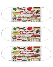 germany map mas  Cloth Face Mask - 3 Pack front