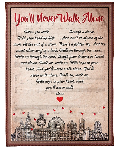 never walk alone blanket