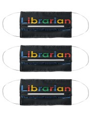 librarian original engine mas Cloth Face Mask - 3 Pack front