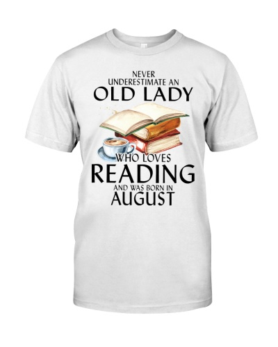 august old lady loves reading