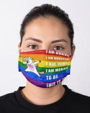 lgbt unicorn mas Cloth Face Mask - 3 Pack aos-face-mask-lifestyle-01