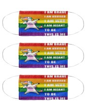 lgbt unicorn mas Cloth Face Mask - 3 Pack front