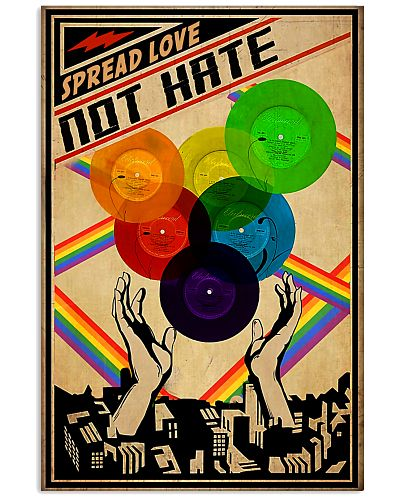 lgbt Vinyl Love not hate