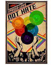 lgbt Vinyl Love not hate 11x17 Poster front
