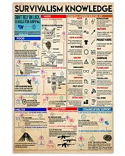 Survivalism knowledge 11x17 Poster front