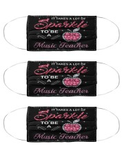 Music teacher sparkle mas  Cloth Face Mask - 3 Pack front