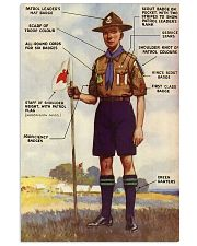 scout uniform anatomy 11x17 Poster front
