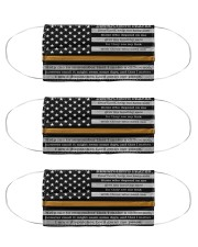 Dispatcher pray us flag mas Cloth Face Mask - 3 Pack front