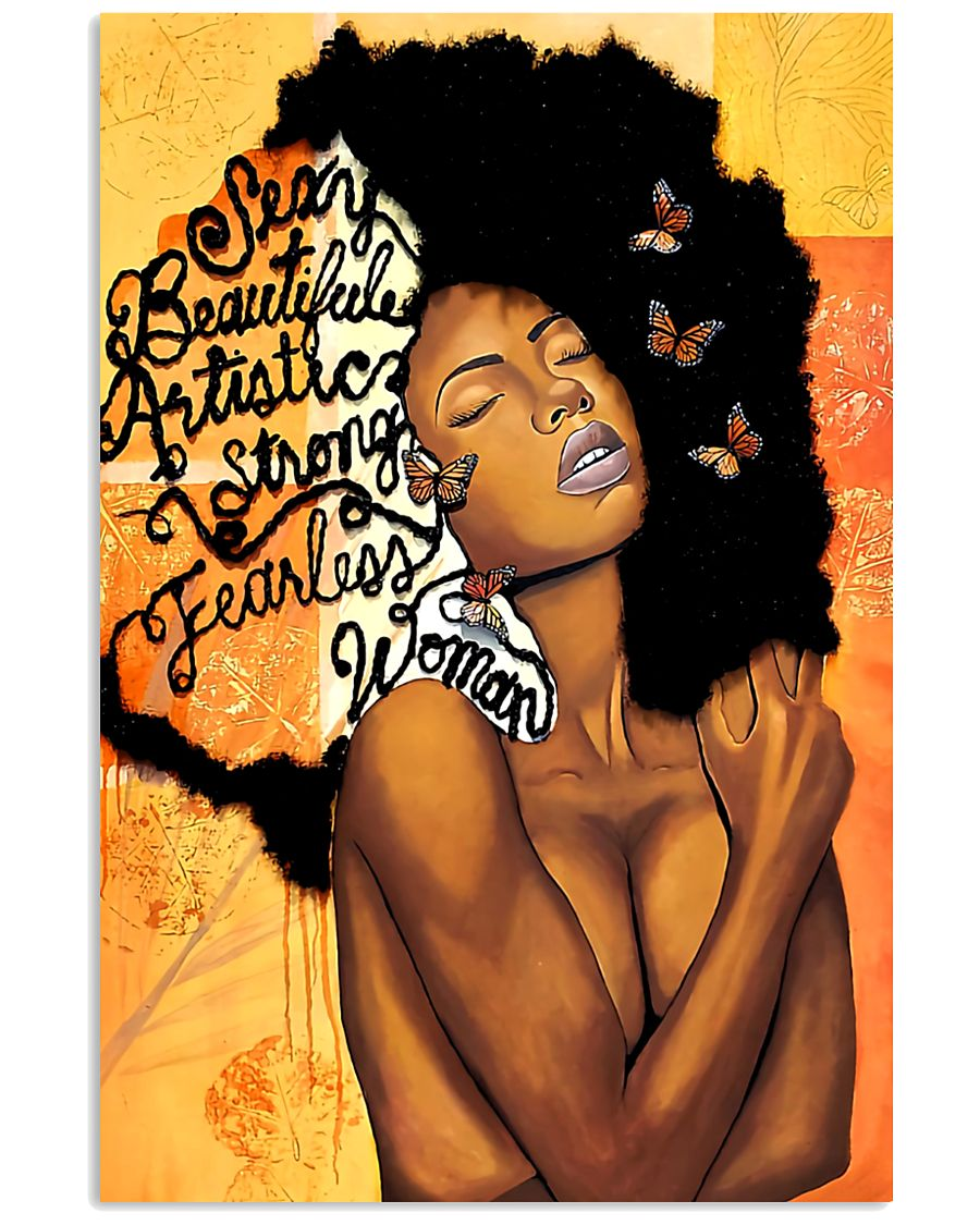 Black Woman fearless   11x17 Poster