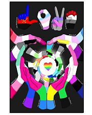 lgbt hand love poster 11x17 Poster front