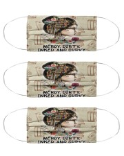 Reading Tattoo Curvy Msk Cloth Face Mask - 3 Pack front