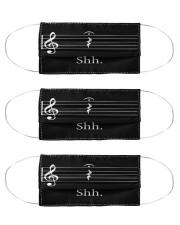 music teacher shh mas  Cloth Face Mask - 3 Pack front