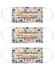 I am Spanish Teacher mas  Cloth Face Mask - 3 Pack front
