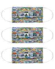 dispatcher plate mas  Cloth Face Mask - 3 Pack front