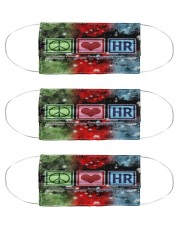 human resource peace love mas  Cloth Face Mask - 3 Pack front