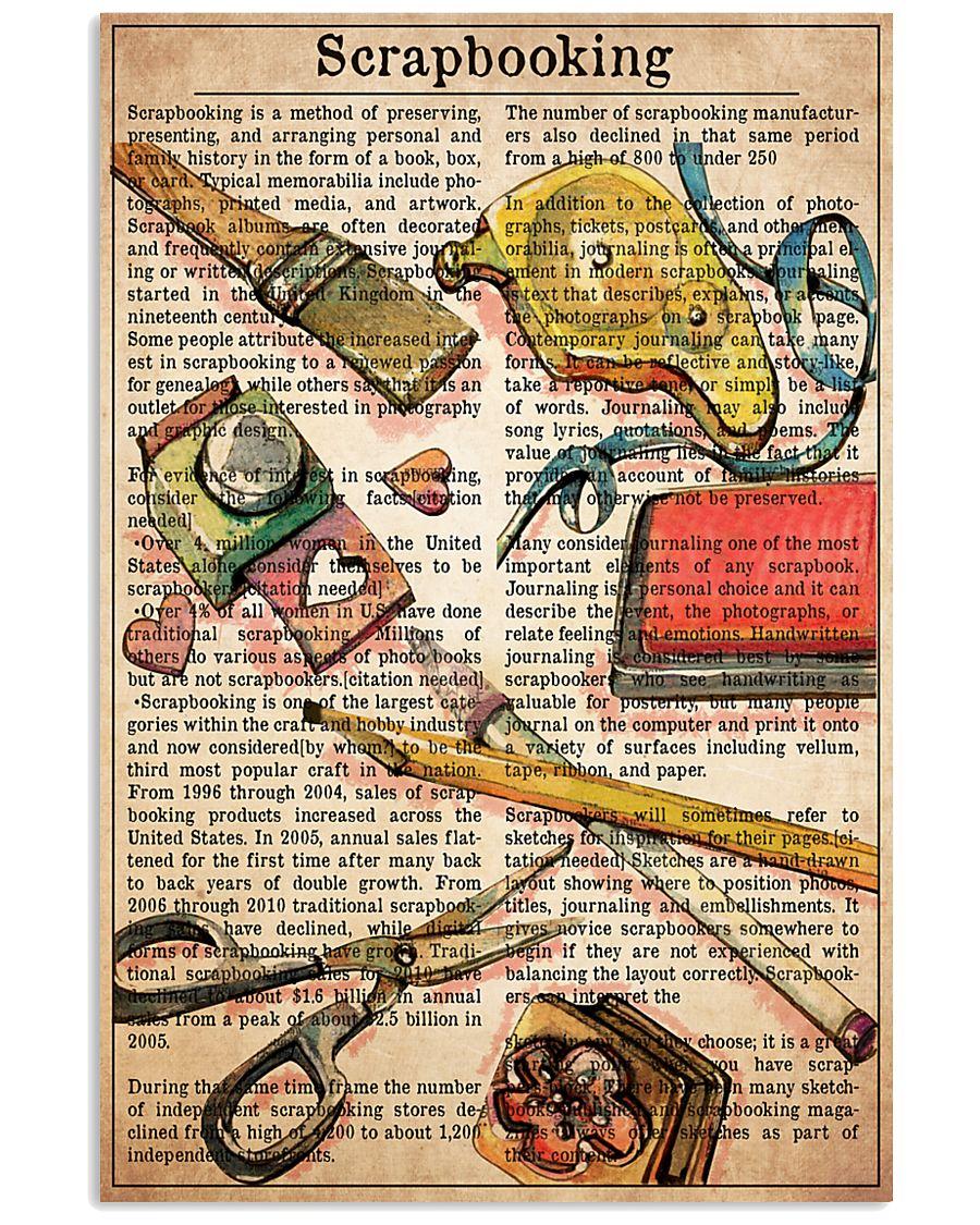 Scrapbook text watercolor 11x17 Poster