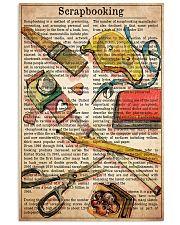 Scrapbook text watercolor 11x17 Poster front