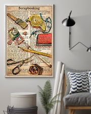 Scrapbook text watercolor 11x17 Poster lifestyle-poster-1