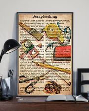 Scrapbook text watercolor 11x17 Poster lifestyle-poster-2