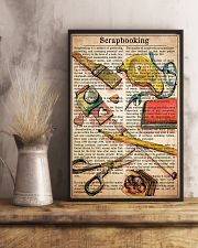 Scrapbook text watercolor 11x17 Poster lifestyle-poster-3