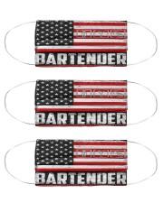 bartender us flag mas Cloth Face Mask - 3 Pack front