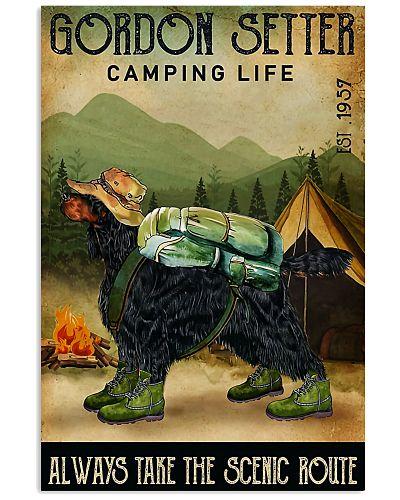 gordon setter camping life
