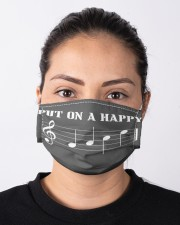 music put on a happy mas Cloth Face Mask - 3 Pack aos-face-mask-lifestyle-01