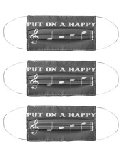 music put on a happy mas Cloth Face Mask - 3 Pack front