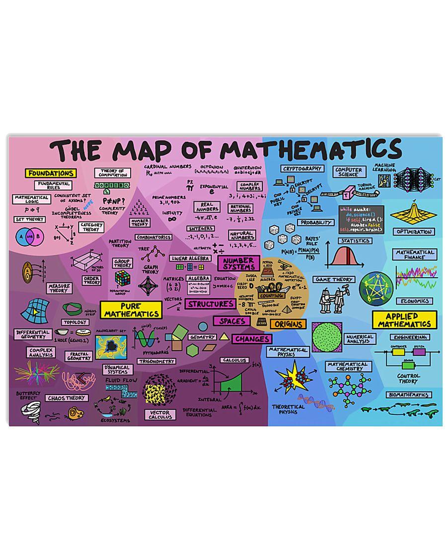 map of mathematics1 17x11 Poster