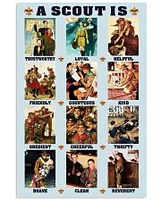 a scout is 11x17 Poster front