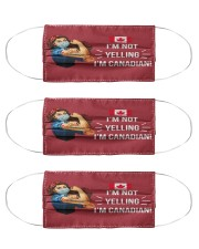 canada girl not yelling mas  Cloth Face Mask - 3 Pack front