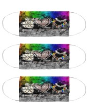 peace-love-kindness-hands-black-lgbt-mas Cloth Face Mask - 3 Pack front