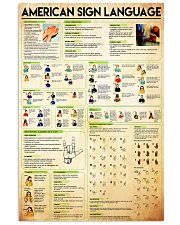 sign-language-cheat-sheet-poster 24x36 Poster front