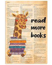 giraffe read more 11x17 Poster front