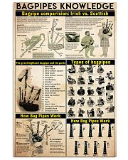 Bagpipes Knowledge 24x36 Poster front