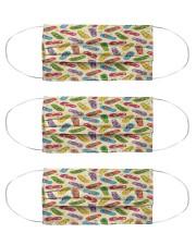 flip flops pattern mas Cloth Face Mask - 3 Pack front
