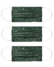 Maths Formula On Chalkboard Cloth Face Mask - 3 Pack front