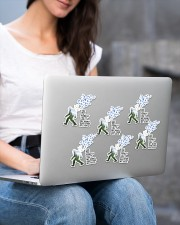 bigfoot into forest sticker Sticker - 6 pack (Vertical) aos-sticker-6-pack-vertical-lifestyle-front-14